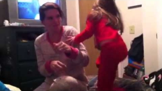 5 year old beating her mom up!(:
