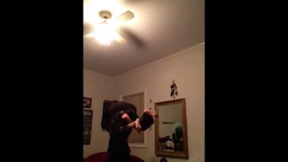 Me beating up my mom wwe style